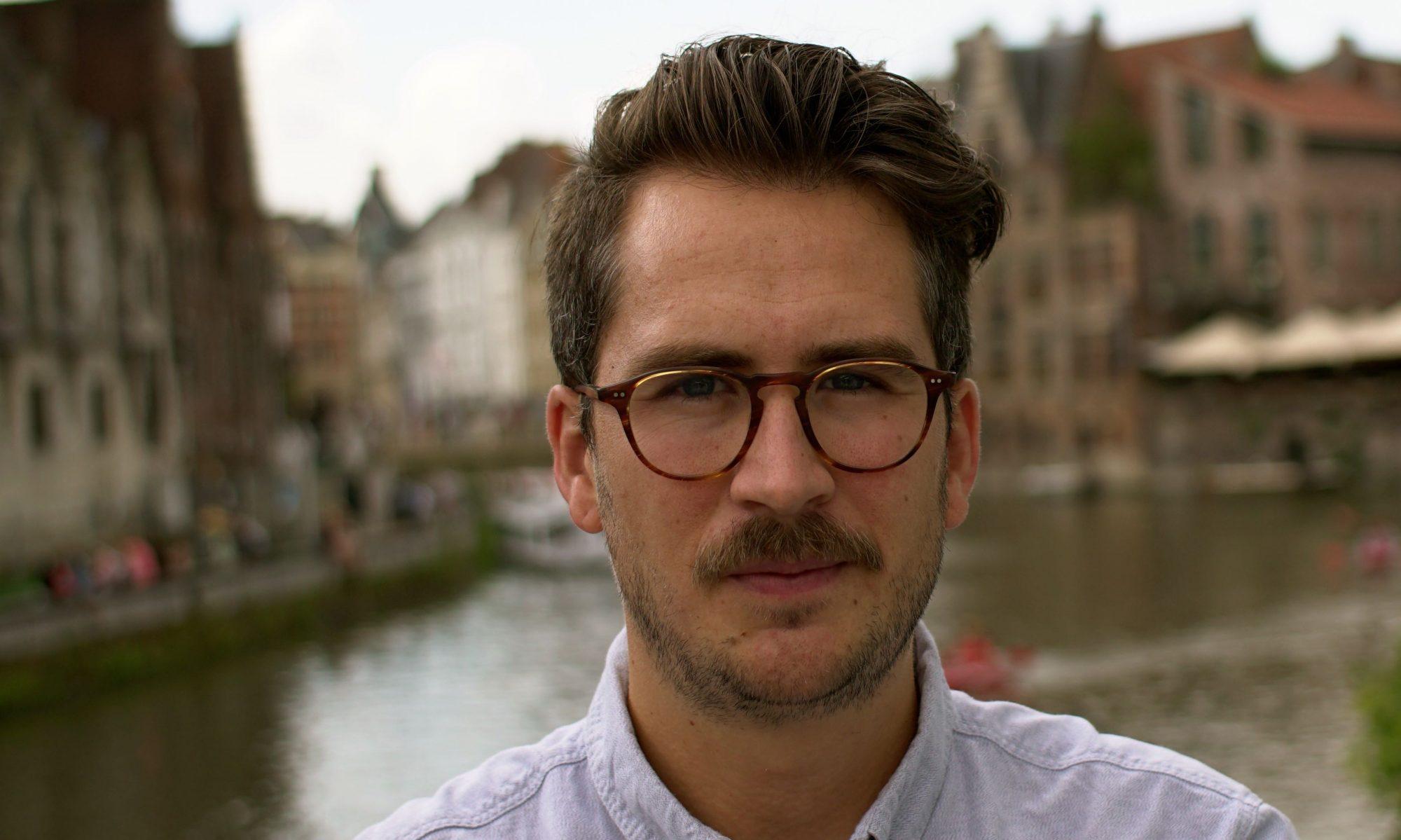 de schrijver in Gent